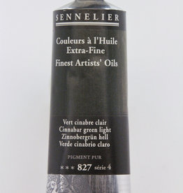 Sennelier, Fine Artists' Oil Paint, Cinnabar Green Light, 827, 40ml Tube, Series 4