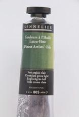 Sennelier, Fine Artists' Oil Paint, Chromium Green Light, 805, 40ml Tube, Series 3