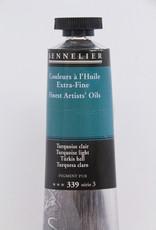 Sennelier, Fine Artists' Oil Paint, Turquoise Light, 339, 40ml Tube, Series 3