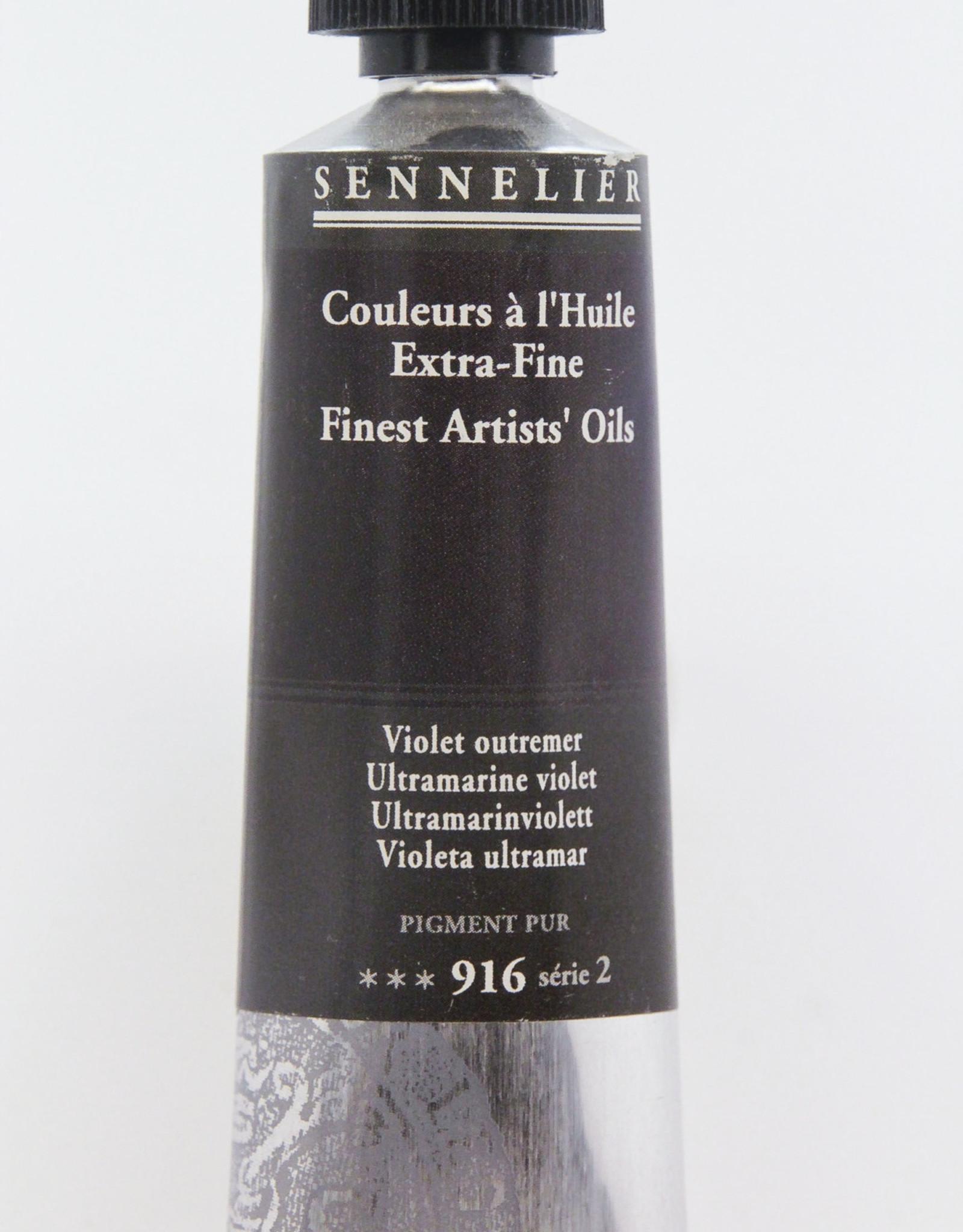 Sennelier, Fine Artists' Oil Paint, Ultramarine Violet, 916, 40ml Tube, Series 2