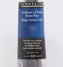 Sennelier, Fine Artists' Oil Paint, Cerulean Blue Hue, 323, 40ml Tube, Series 2