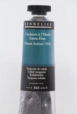 Sennelier, Fine Artists' Oil Paint, Cobalt Turquoise, 343, 40ml Tube, Series 6
