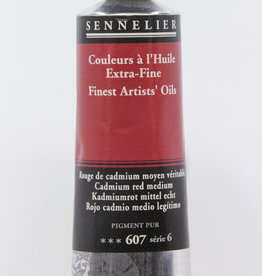 Sennelier, Fine Artists' Oil Paint, Cadmium Red Medium, 607, 40ml Tube, Series 6
