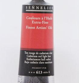 France Sennelier, Fine Artists' Oil Paint, Cadmium Red Light Hue, 613, 40ml Tube, Series 4