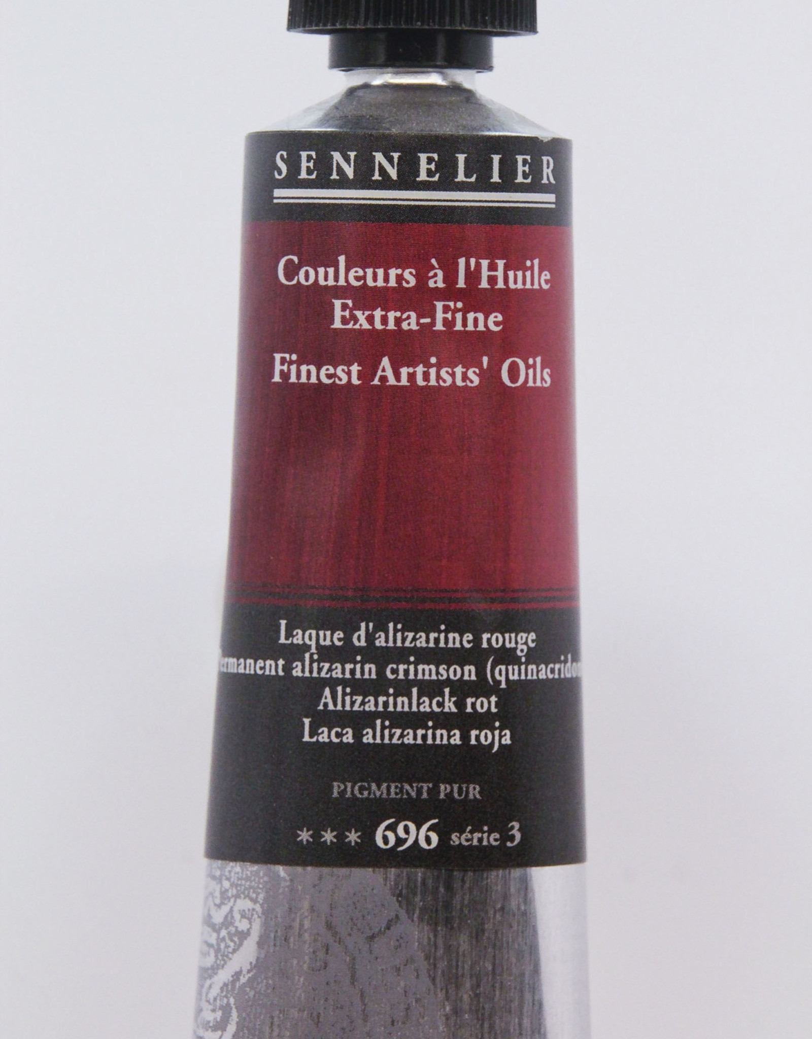 Sennelier, Fine Artists' Oil Paint, Permanent Alizarin Crimson, 696, 40ml Tube, Series 3