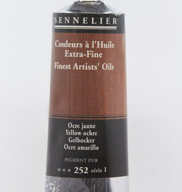 Sennelier, Fine Artists' Oil Paint, Yellow Ochre, 252, 40ml Tube, Series 1