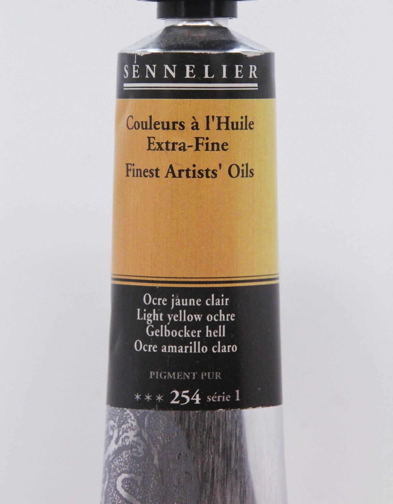 Sennelier, Fine Artists' Oil Paint, Light Yellow Ochre, 254, 40ml Tube, Series 1