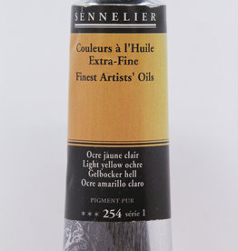 Sennelier, Fine Artists' Oil Paint, Light Yellow Ochre, 254, 40ml Tube, Series 1