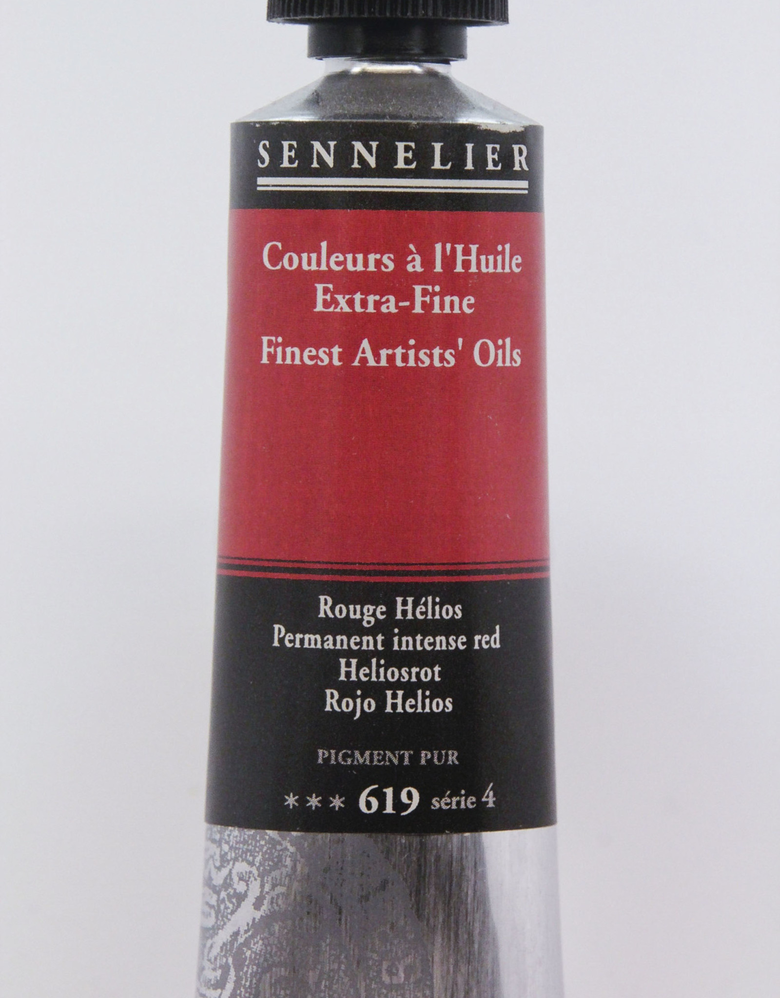 Sennelier, Fine Artists' Oil Paint, Permanent Intense Red, 619, 40ml Tube, Series 4