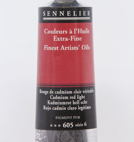 Sennelier, Fine Artists' Oil Paint, Cadmium Red Light, 605, 40ml Tube, Series 6