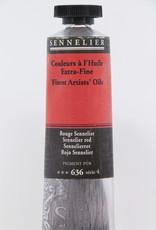 Sennelier, Fine Artists' Oil Paint, Sennelier Red, 636, 40ml Tube, Series 4