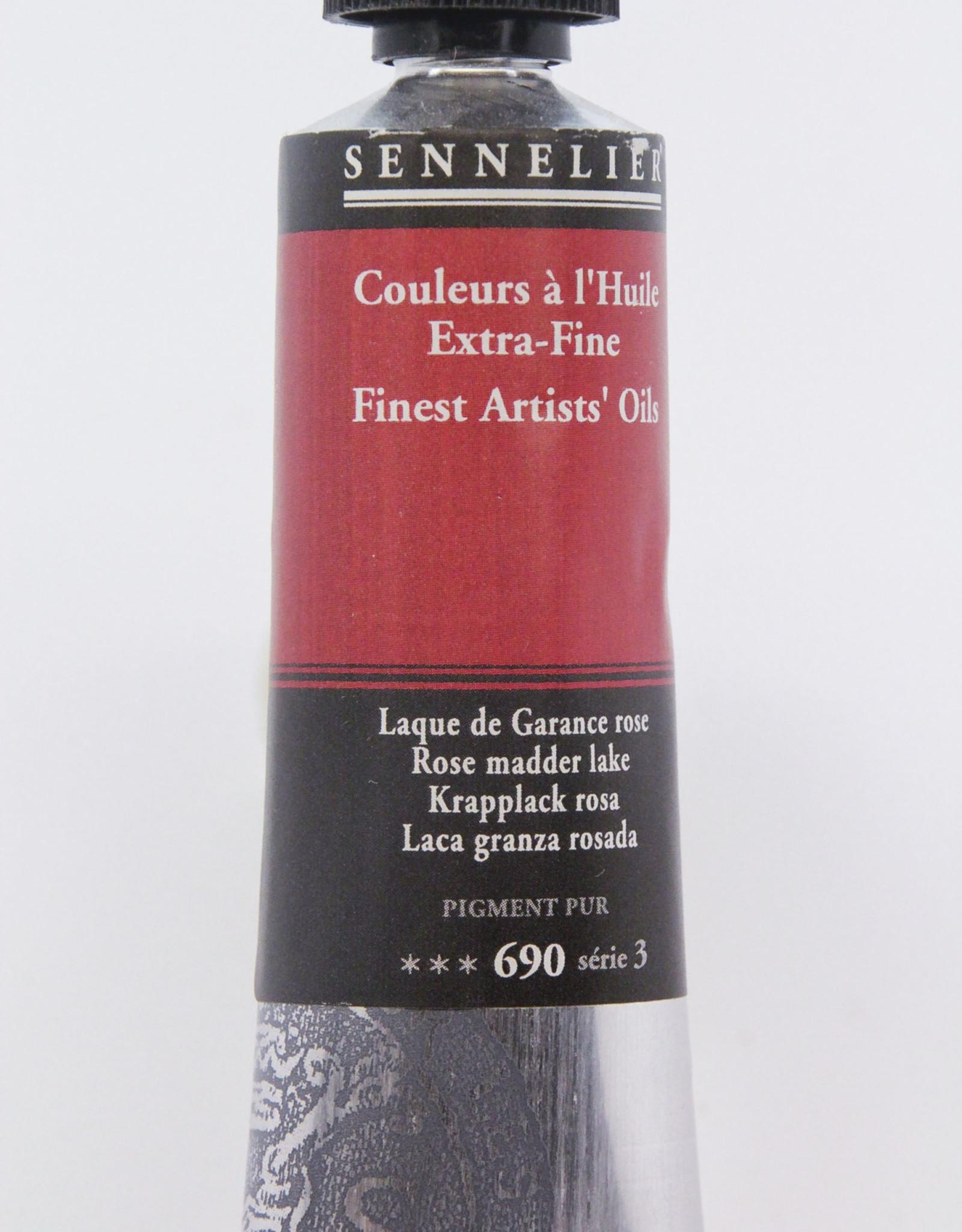 Sennelier, Fine Artists' Oil Paint, Rose Madder Lake, 690, 40ml Tube, Series 3