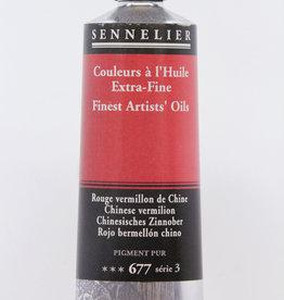 Sennelier, Fine Artists' Oil Paint, Chinese Vermilion, 677, 40ml Tube, Series 3
