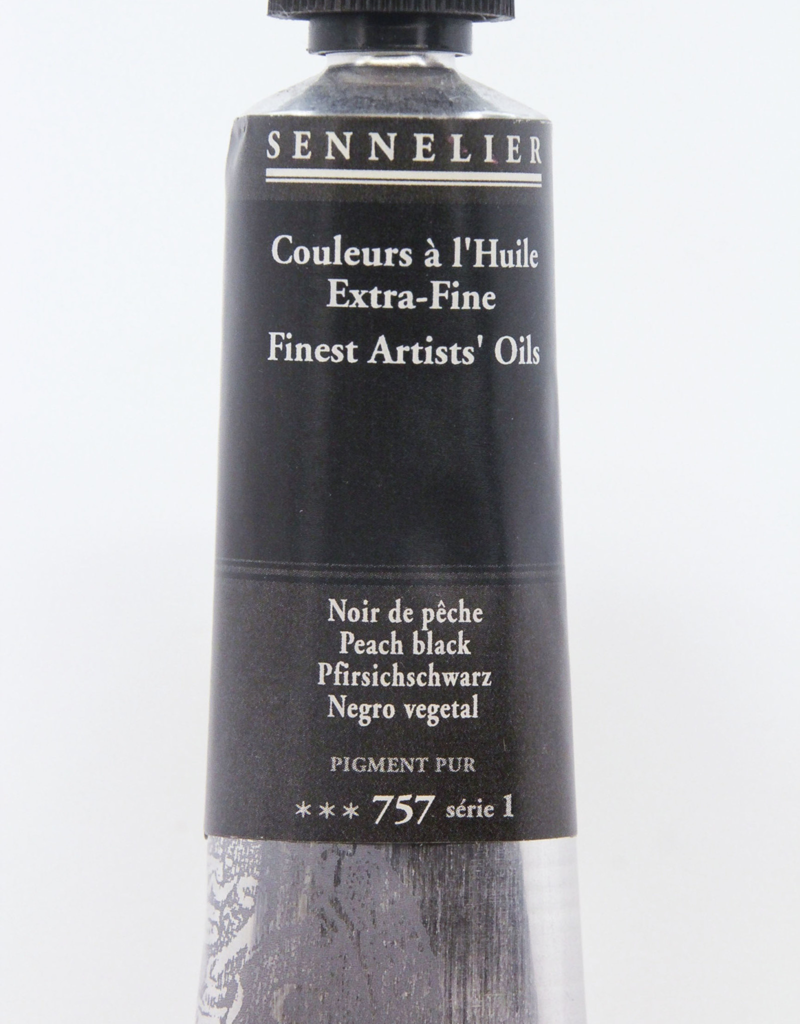 Sennelier, Fine Artists' Oil Paint, Peach Black, 757, 40ml Tube, Series 1