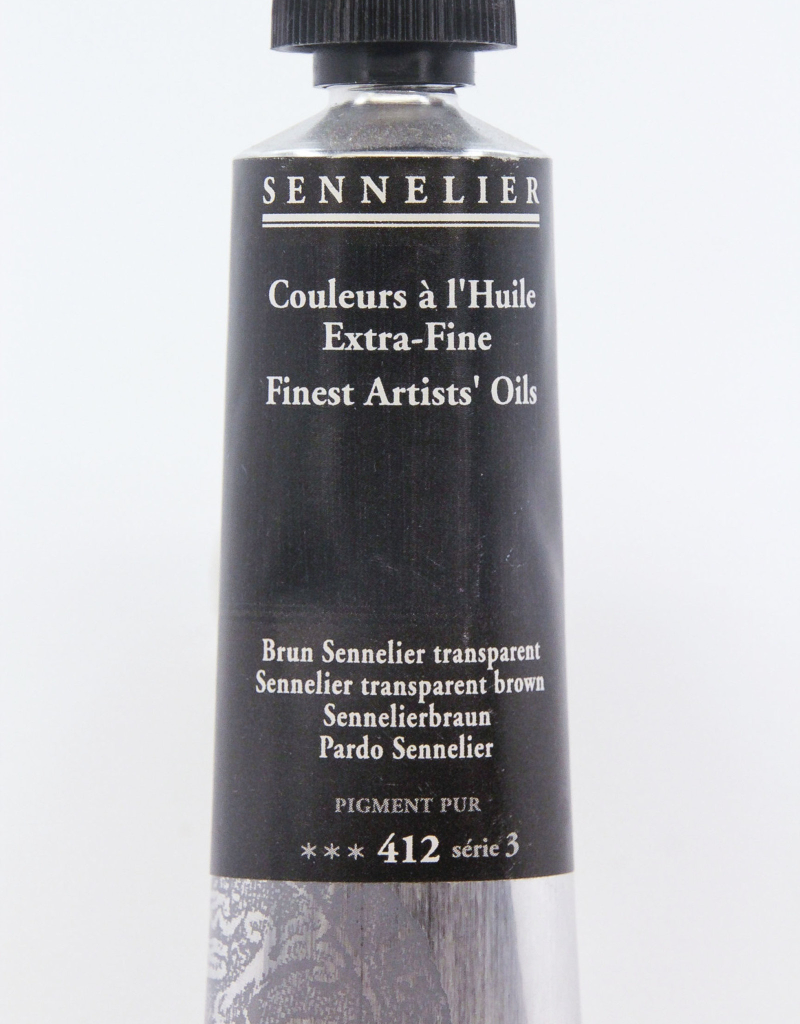 Sennelier, Fine Artists' Oil Paint, Sennelier Transparent Brown, 412, 40ml Tube, Series 3