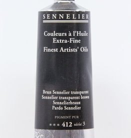 Sennelier, Fine Artists' Oil Paint, Sennelier Transparent Brown, 412, 40ml Tube, Series 3