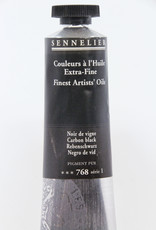 Sennelier, Fine Artists' Oil Paint, Carbon Black, 768, 40ml Tube, Series 1