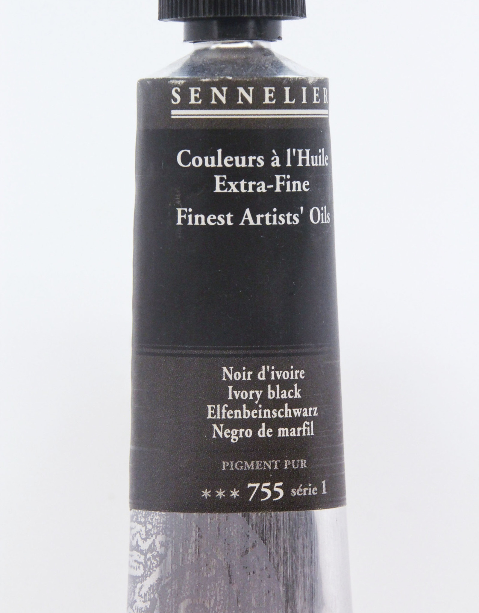 Sennelier, Fine Artists' Oil Paint, Ivory Black, 755, 40ml Tube, Series 1