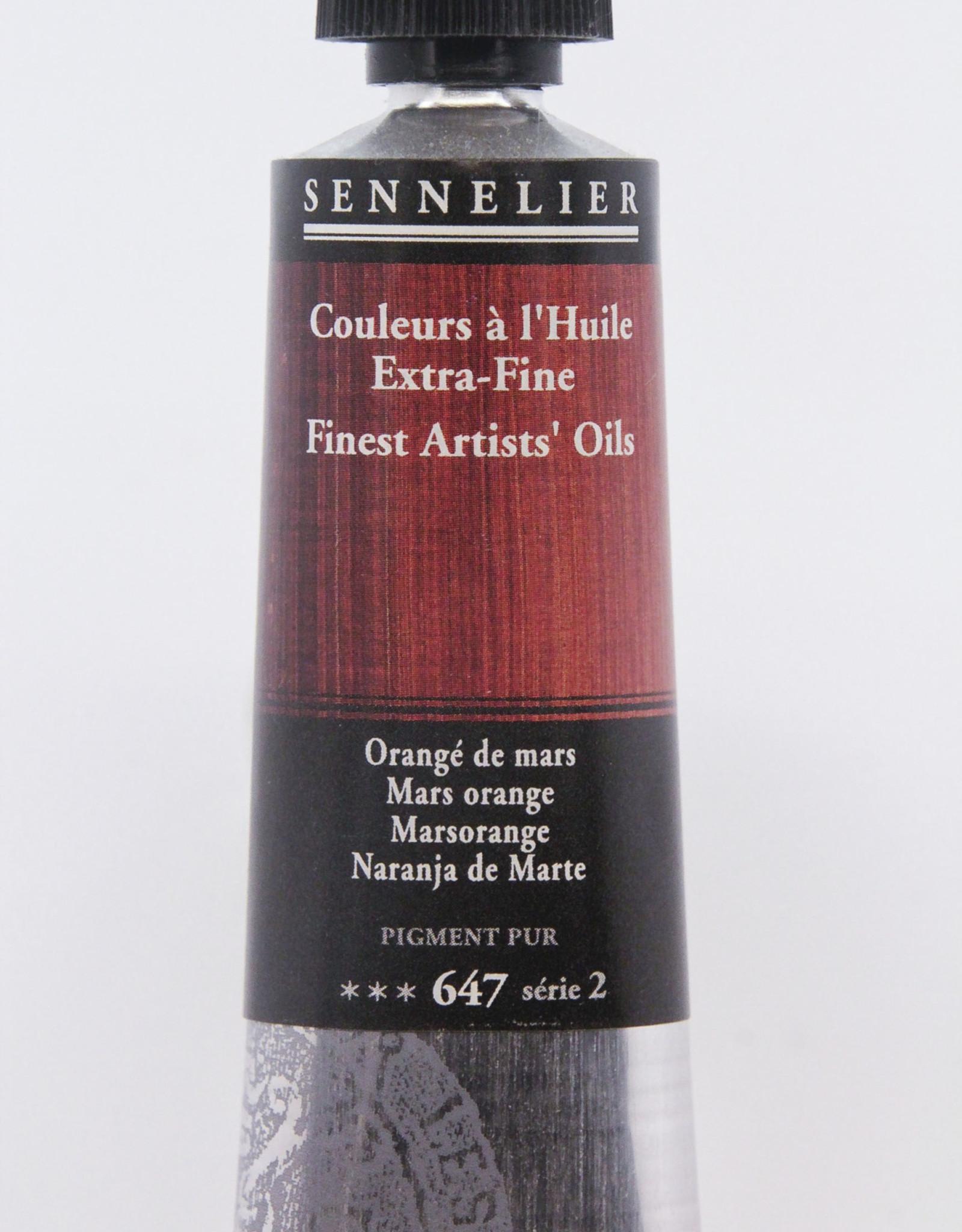 Sennelier, Fine Artists' Oil Paint, Mars Orange, 647, 40ml Tube, Series 2