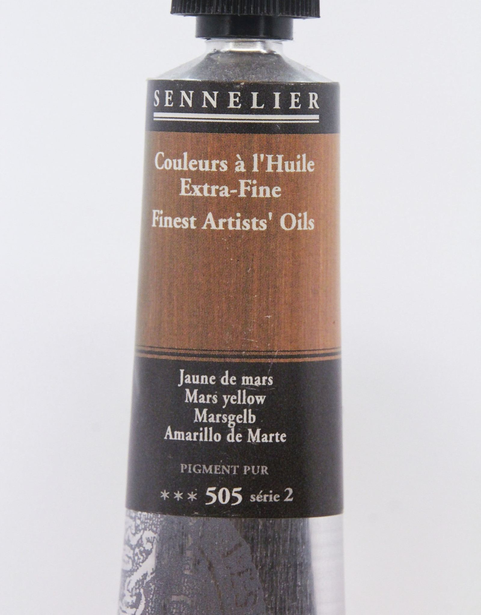 Sennelier, Fine Artists' Oil Paint, Mars Yellow, 505, 40ml Tube, Series 2