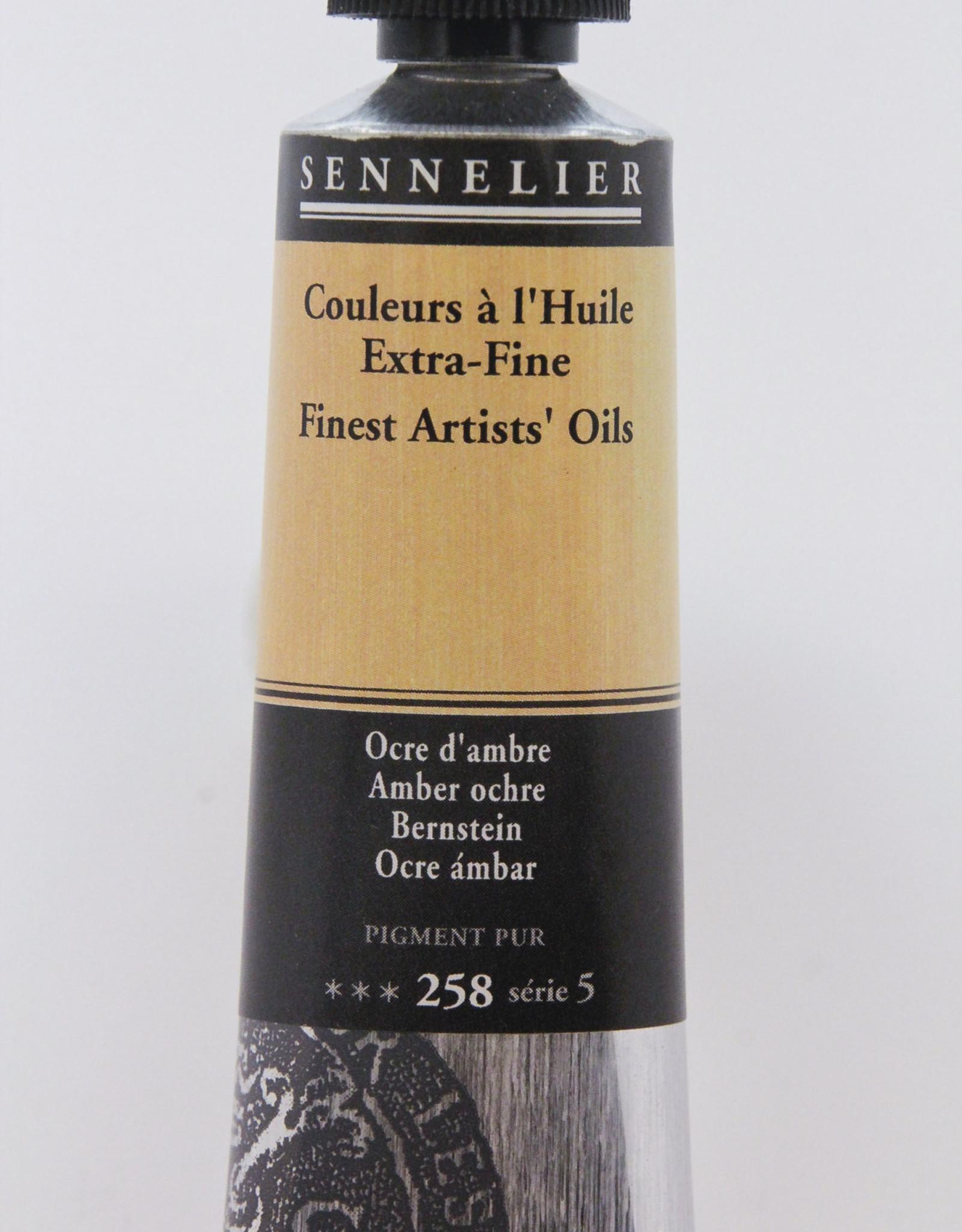 Sennelier, Fine Artists' Oil Paint, Amber Ochre, 258, 40ml Tube, Series 5