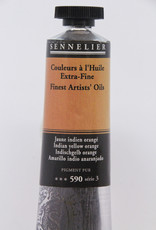 Sennelier, Fine Artists' Oil Paint, Indian Yellow Orange, 590, 40ml Tube, Series 3