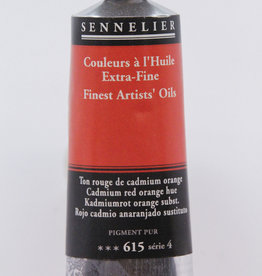 Sennelier, Fine Artists' Oil Paint, Cadmium Red Orange Hue, 615, 40ml Tube, Series 4