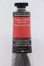 Sennelier, Fine Artists' Oil Paint, Cadmium Red Orange, 609, 40ml Tube, Series 6