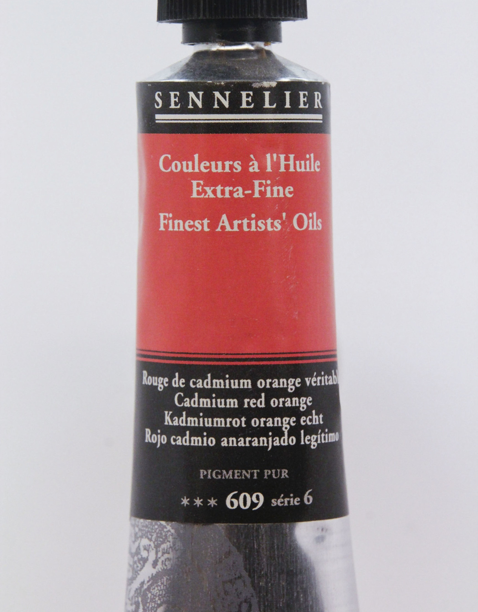 Sennelier, Fine Artists' Oil Paint, Cadmium Red Orange, 609, 40ml Tube, Series 6