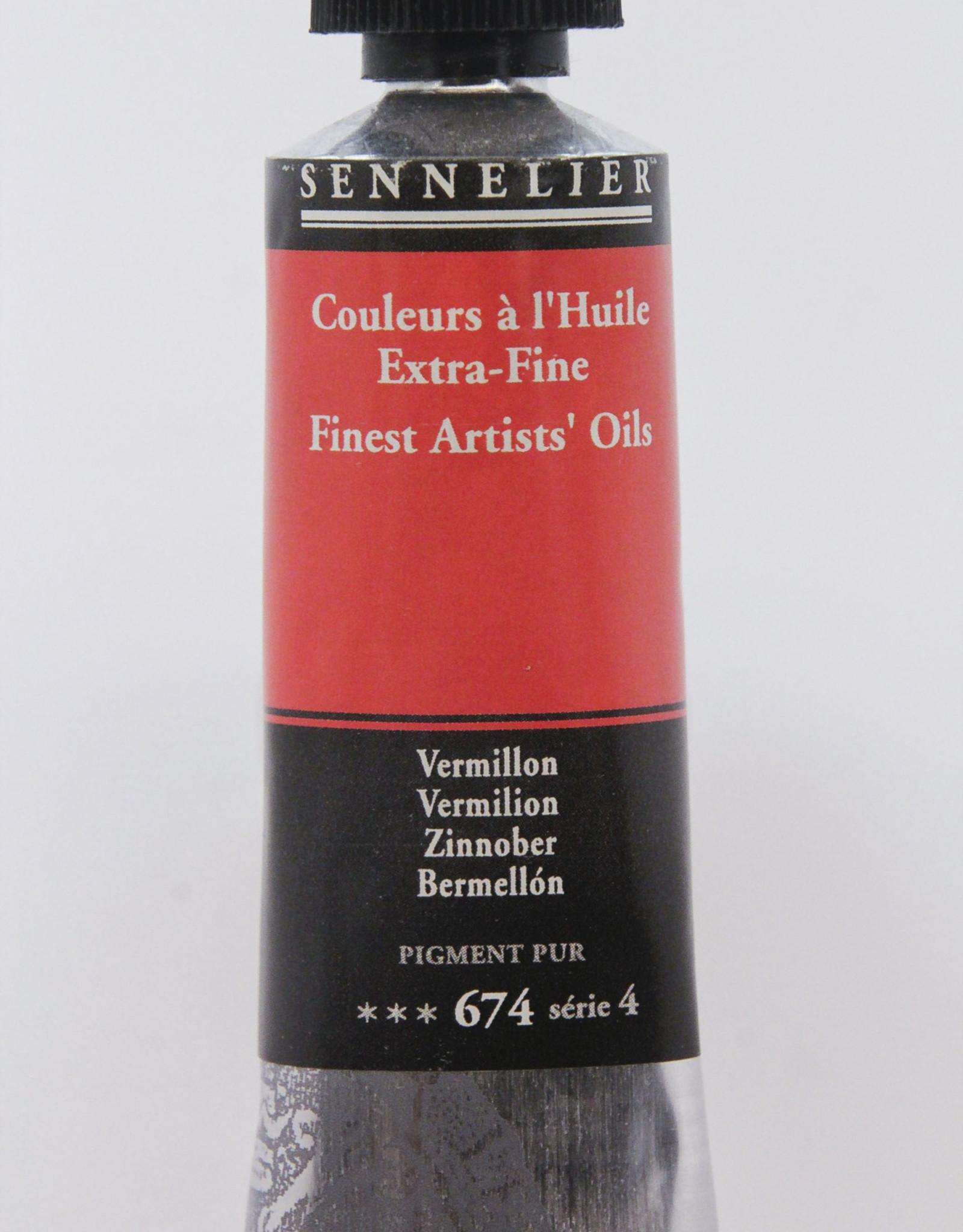Sennelier, Fine Artists' Oil Paint, Vermillion, 674, 40ml Tube, Series 4