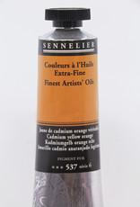 Sennelier, Fine Artists' Oil Paint, Cadmium Yellow Orange, 537, 40ml Tube, Series 6