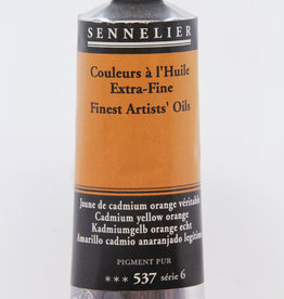 Sennelier, Fine Artists' Oil Paint, Cadmium Yellow Orange, 537, 40ml Tube, Series 6