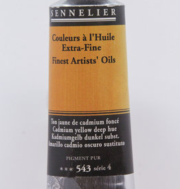 Sennelier, Fine Artists' Oil Paint, Cadmium Yellow Deep Hue, 543, 40ml Tube, Series 4