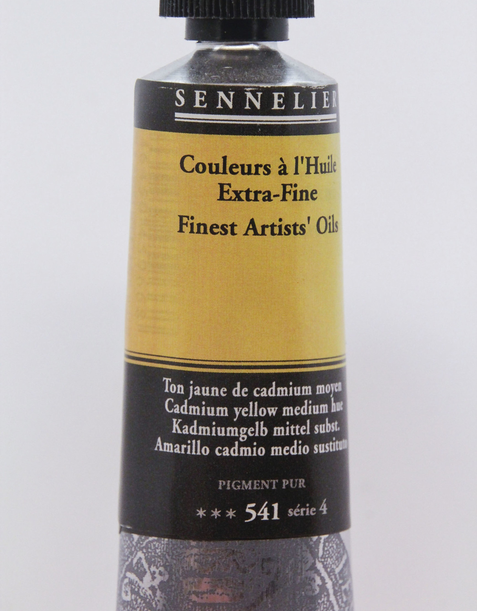 Sennelier, Fine Artists' Oil Paint, Cadmium Yellow Medium Hue, 541, 40ml Tube, Series 4