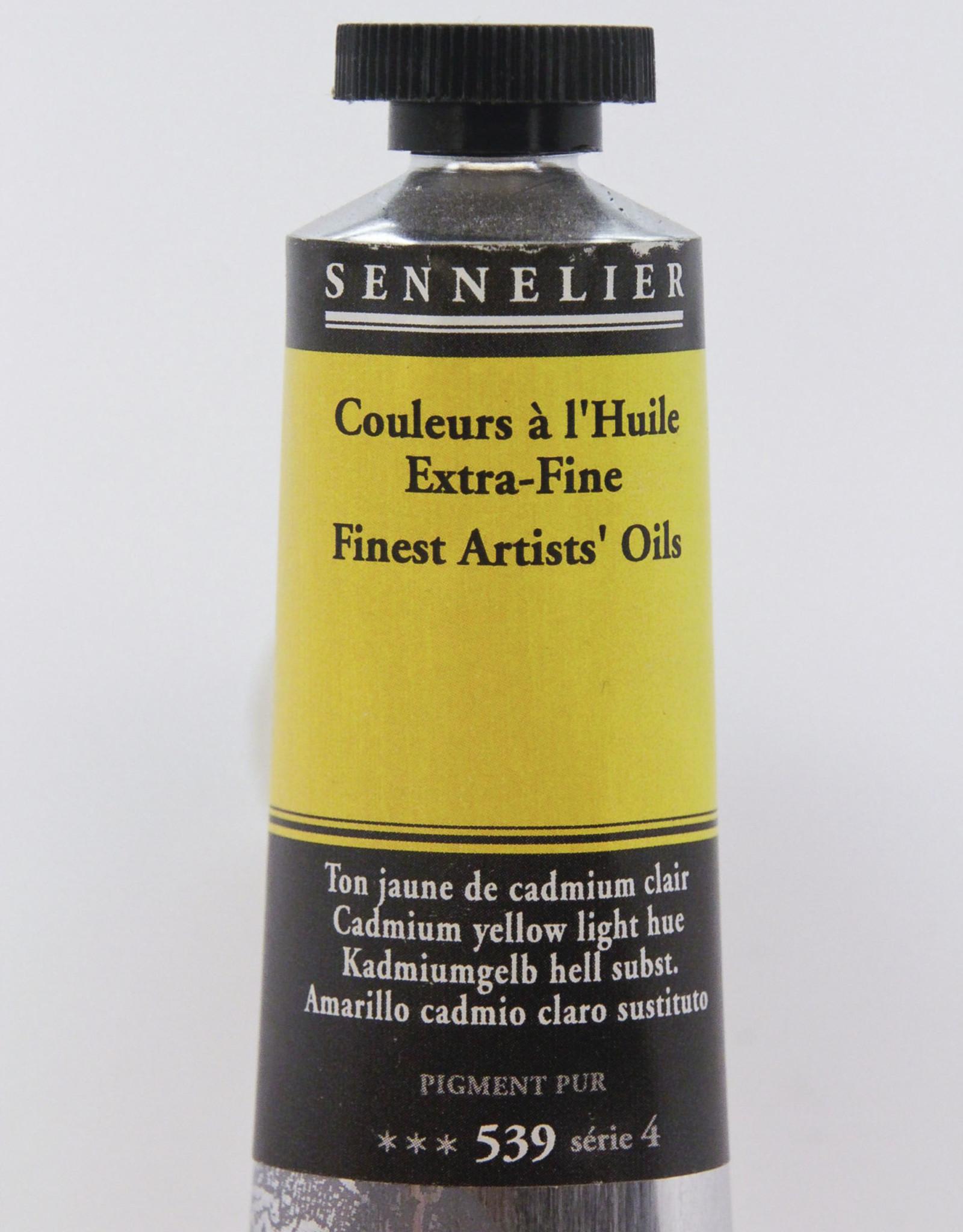 Sennelier, Fine Artists' Oil Paint, Cadmium Yellow Light Hue, 539, 40ml Tube, Series 4