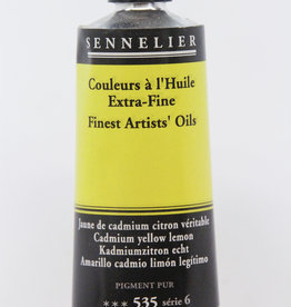 Sennelier, Fine Artists' Oil Paint, Cadmium Yellow Lemon, 535, 40ml Tube, Series 6