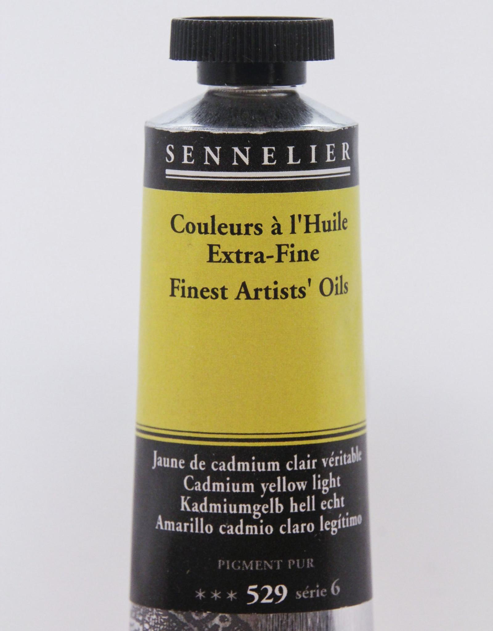 Sennelier, Fine Artists' Oil Paint, Cadmium Yellow Light, 529, 40ml Tube, Series 6