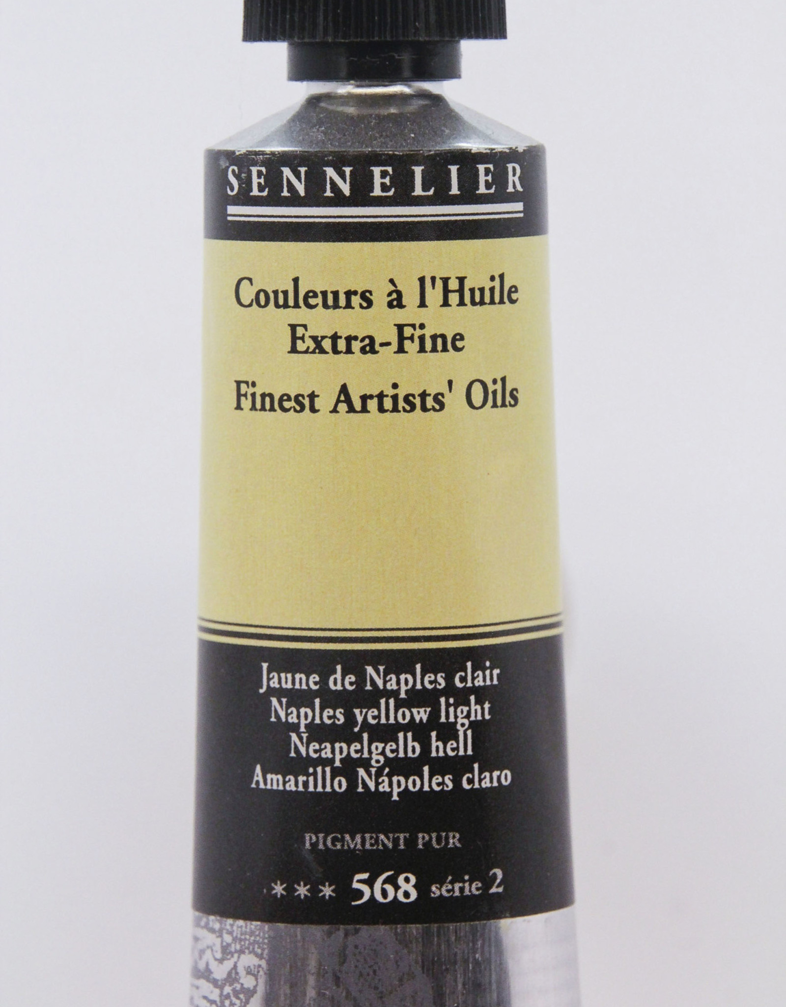 Sennelier, Fine Artists' Oil Paint, Naples Yellow Light, 568, 40ml Tube, Series 2