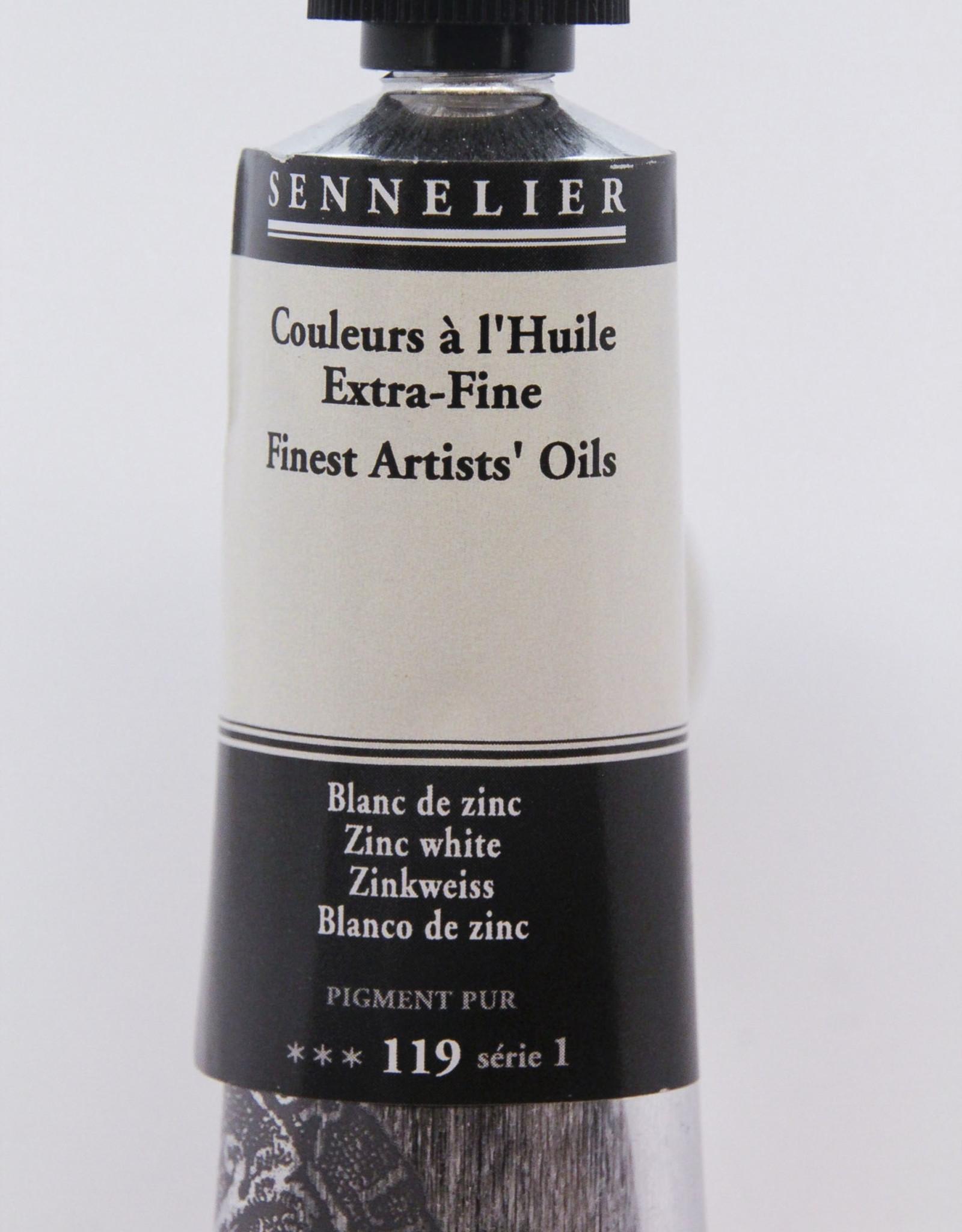 Sennelier, Fine Artists' Oil Paint, Zinc White, 119, 40ml Tube, Series 1