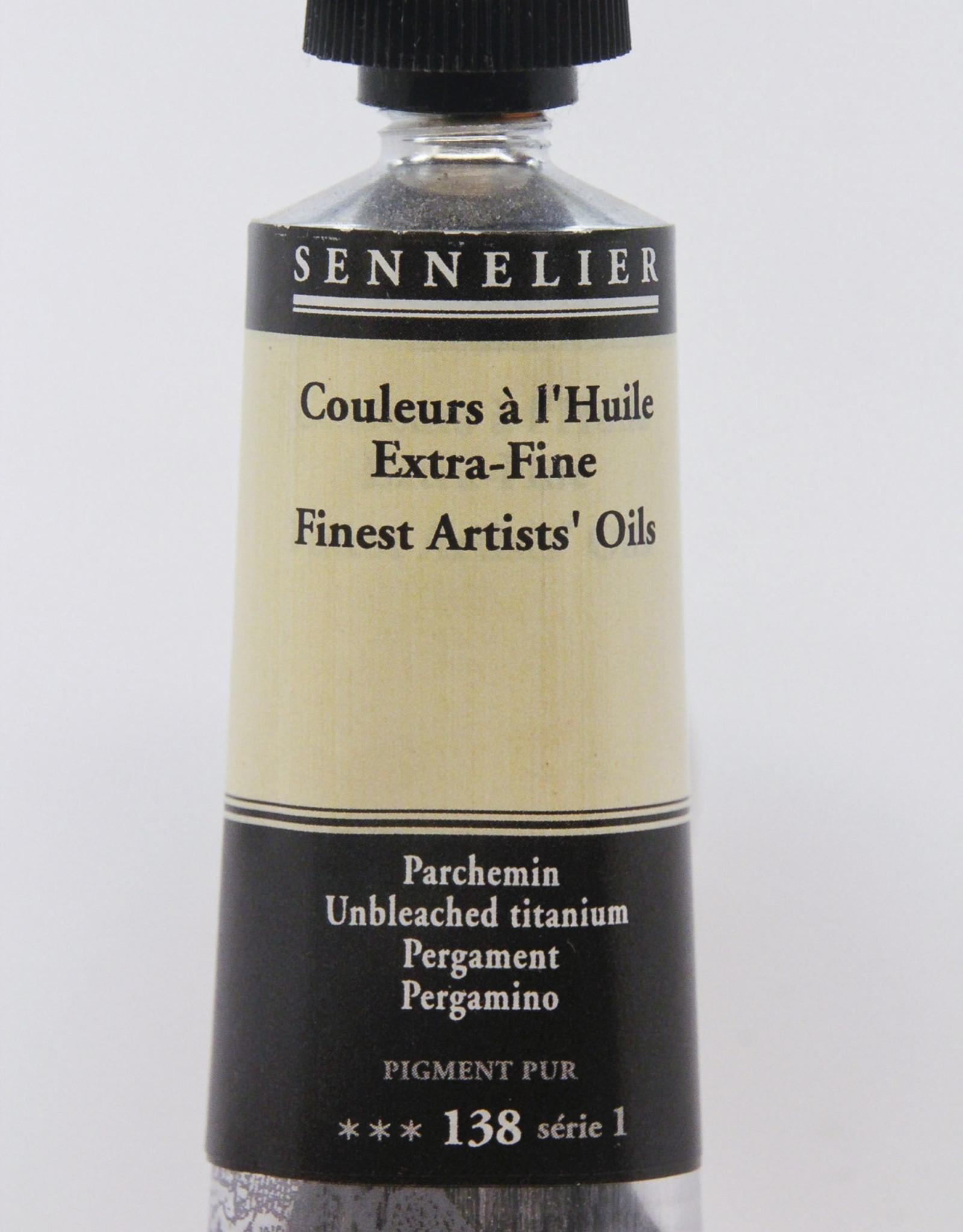 Sennelier, Fine Artists' Oil Paint, Unbleached Titanium, 138, 40ml Tube, Series 1