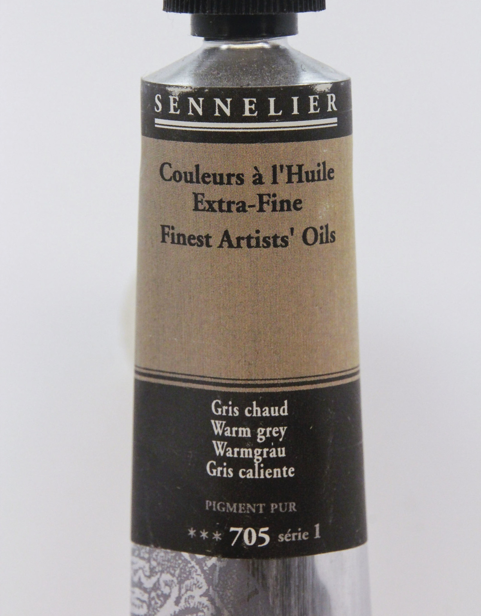 Sennelier, Fine Artists' Oil Paint, Warm Grey, 705, 40ml Tube, Series 1