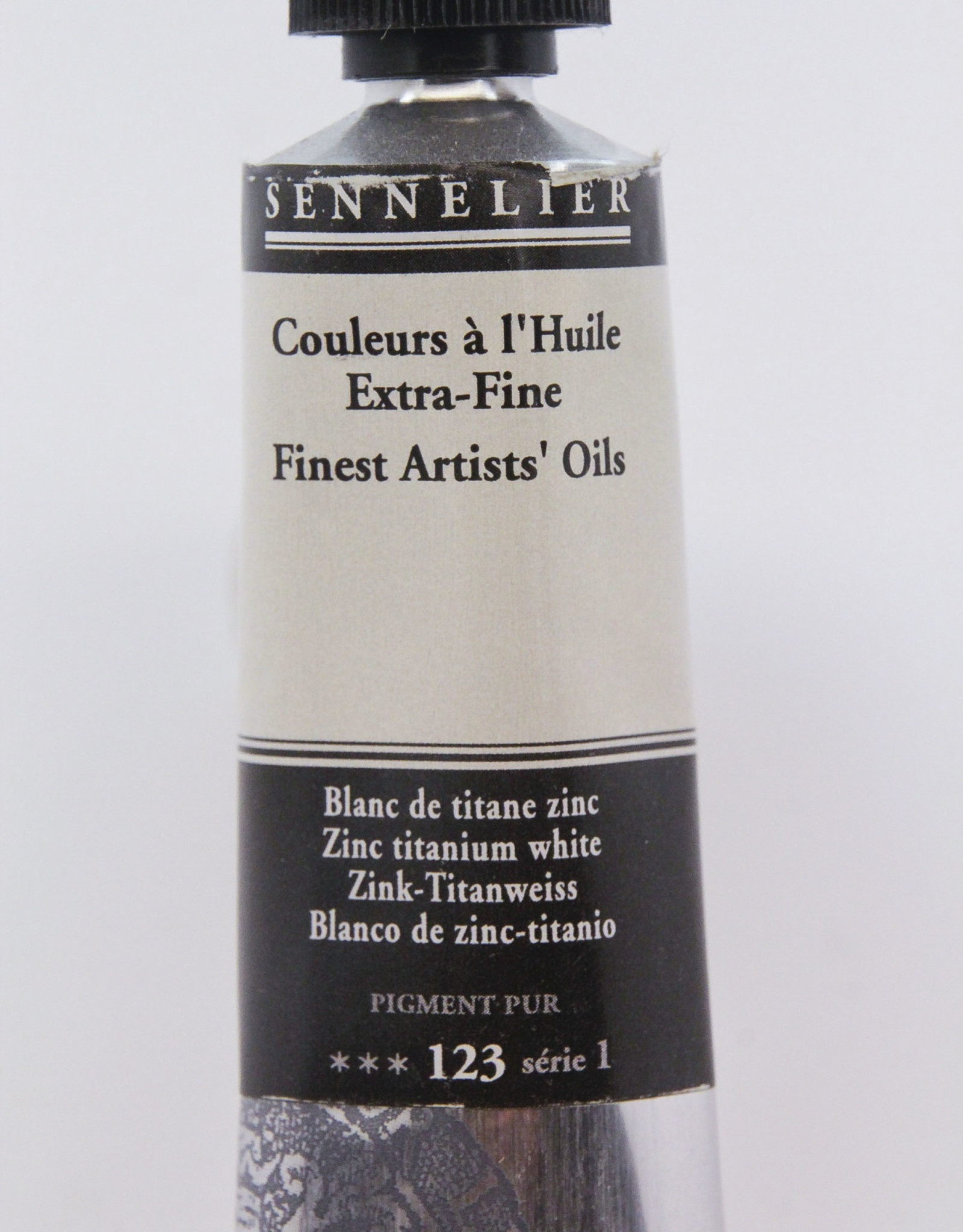 Sennelier, Fine Artists' Oil Paint, Zinc Titanium White, 123, 40ml Tube, Series 1