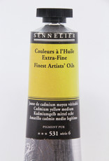 Sennelier, Fine Artists' Oil Paint, Cadmium Yellow Medium, 531, 40ml Tube, Series 6