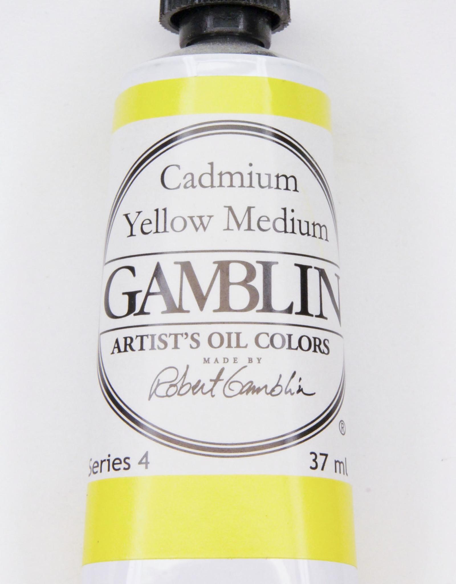 Gamblin Oil Paint, Cadmium Yellow Medium, Series 4, Tube 37ml