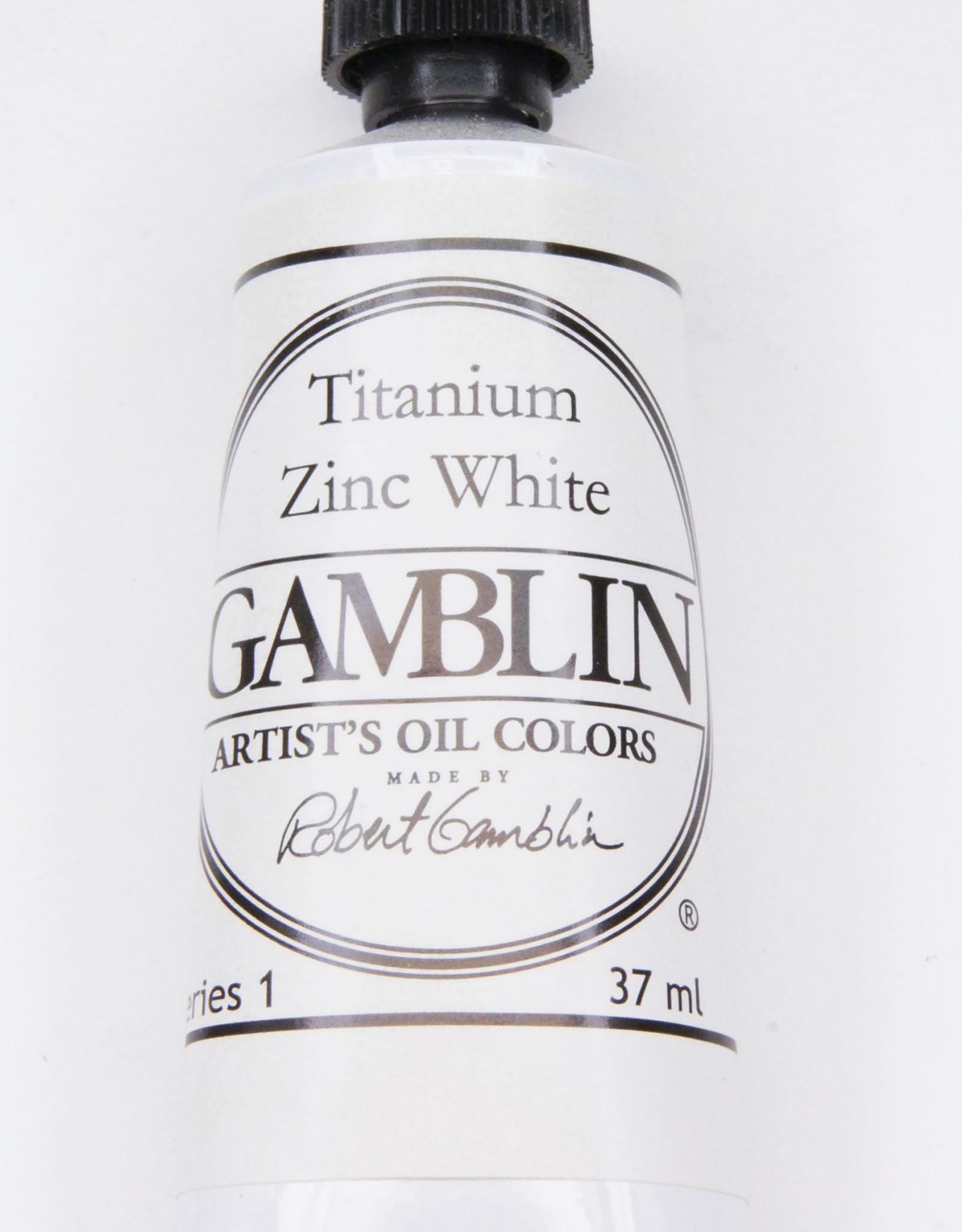Gamblin Oil Paint, Titanium Zinc White, Series 1, Tube 37ml