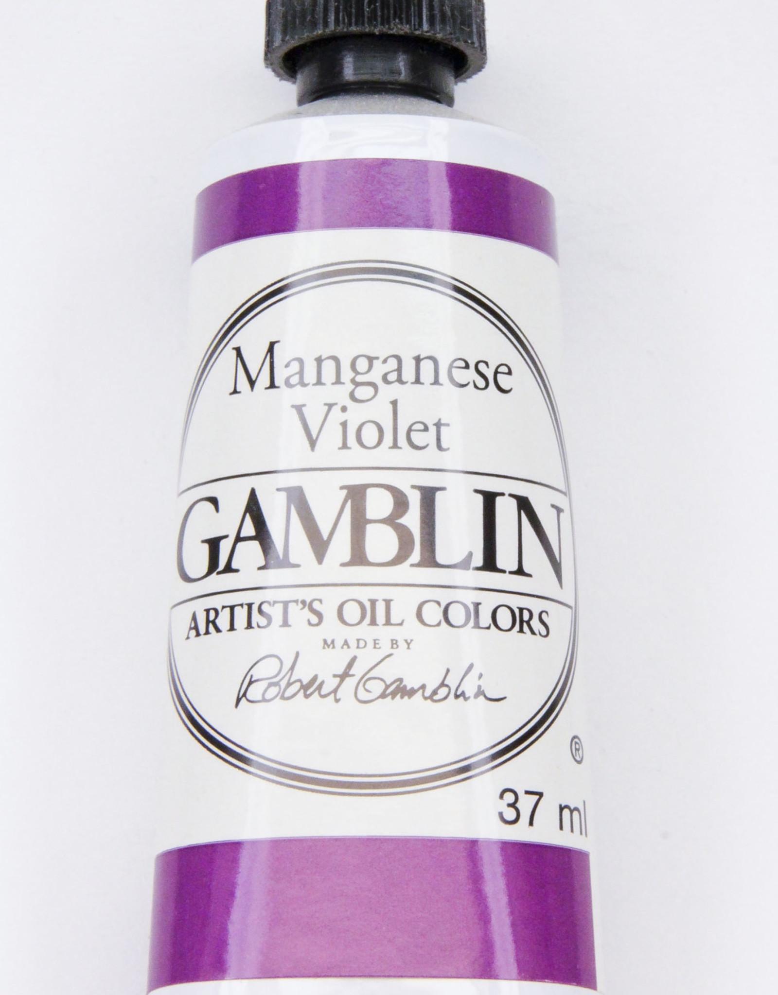 Gamblin Oil Paint, Maganese Violet, Series 3, Tube 37ml