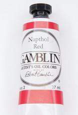 Gamblin Oil Paint, Napthol Red, Series 2, Tube 37ml