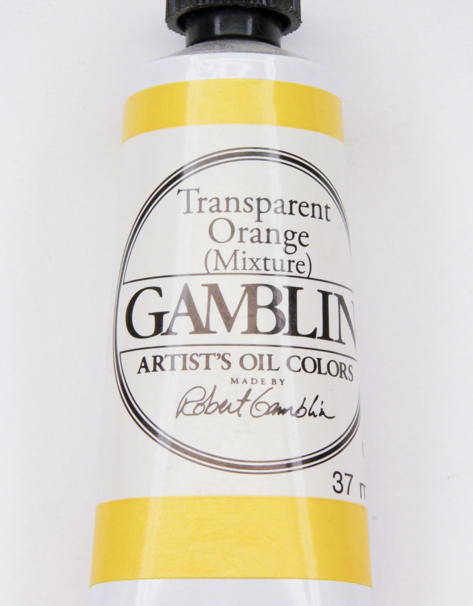 Gamblin Oil Paint, Transparent Orange (mixture), Series 3, Tube 37ml