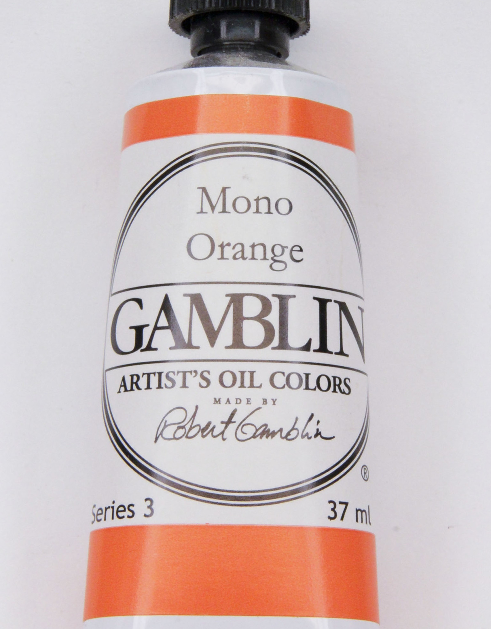 Gamblin Oil Paint, Mono Orange, Series 3, Tube 37ml