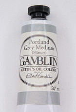 Gamblin Oil Paint, Portland Grey Medium, Series 2, Tube 37ml